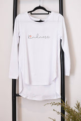 Kindness L/S Top- White (PLUS FREE GIFT of $29.95 item)