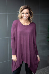 Braxton Oversized Knit - Plum