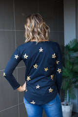 Starry Eyes L/S Tee - Navy