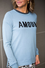 Jasper Amour Sweater - Washed Blue