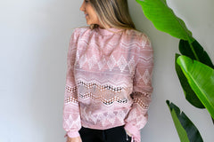 Baby Pink Lace Top