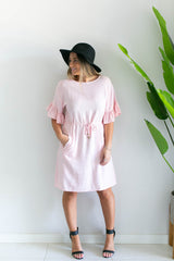 Havana Pocket Dress- Pink