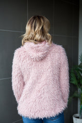 Brooklyn Fluffy Jacket - Pink