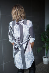 Graphite Swirl Dress