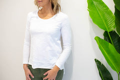 Bondi Basic L/S Top - White