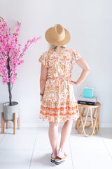 Buttermilk Floral Dress