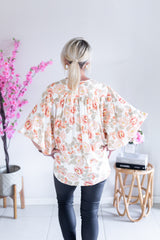 Apricot Delight Drape V-Neck Shirt