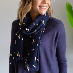 Navy/Rose Gold Scarf