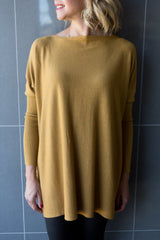 Bailey Oversized Knit - Winter Mustard