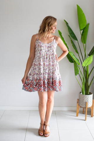 Swing Dress- Pink Floral