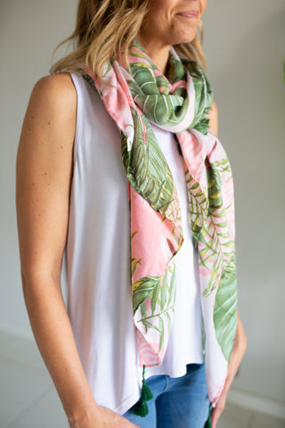 Green Palm Scarf
