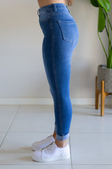 Khloe Jean- Mid Blue Wash