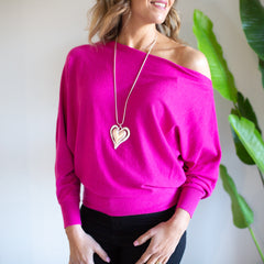 Chrissy Knit Jumper- Pink