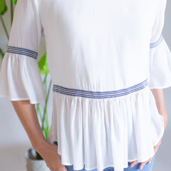 Piper Woven Top - White