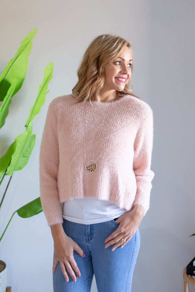 Wrapped Up Knit - Rose