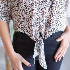 Brown Leopard Shirt