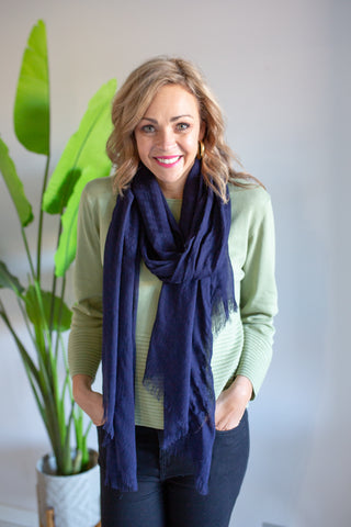 Plain Scarf - Navy