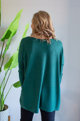Bailey V Oversized Knit - Green