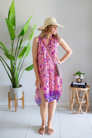 Aquila Dress- Pink Poppy