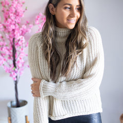 Chunky Knit Jumper- Natural Taupe