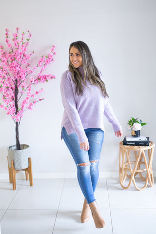 Sweet Lily Knit - Lilac