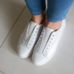 Banks Shoe - Pearl Shimmer White