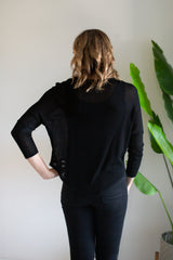 Zip Lightweight Knit Top