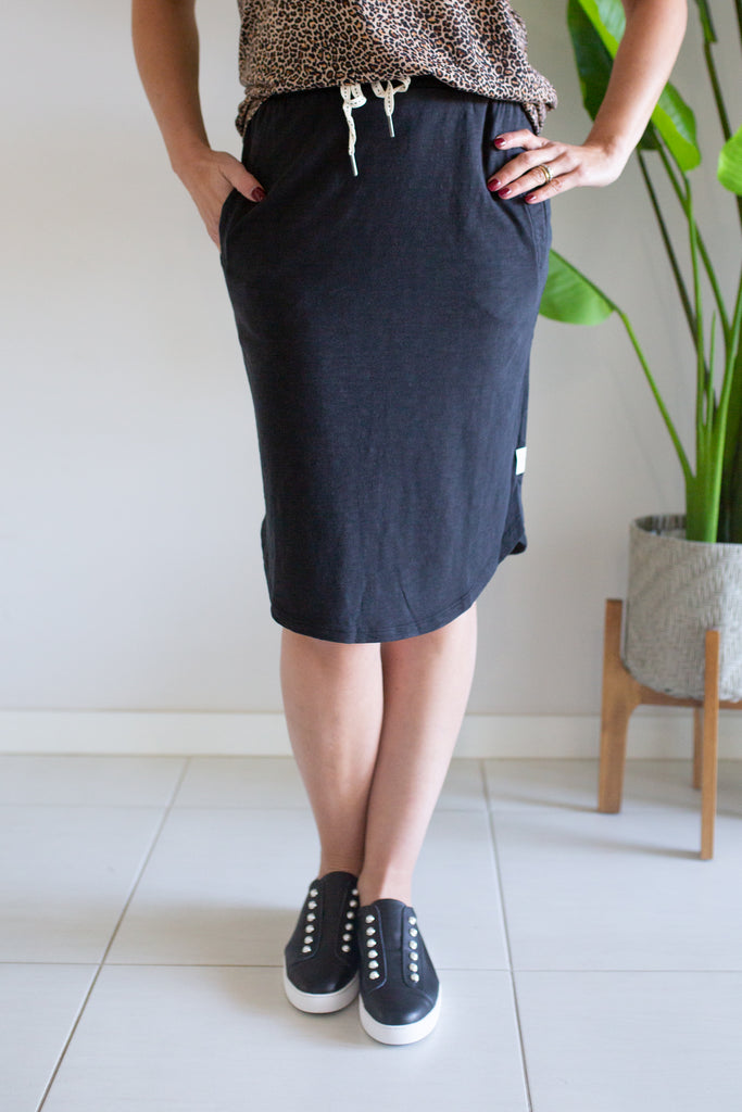 Fundamental Isla Skirt - Washed Black