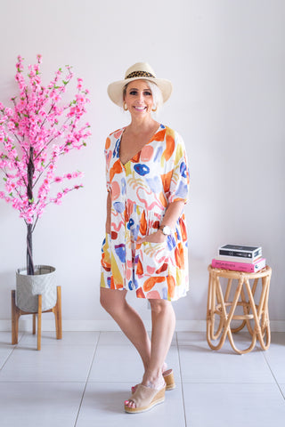 Box Pocket Dress - Mykonos