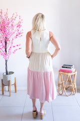 Tilly Linen Dress- Pink