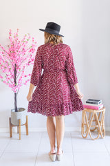 Easy Life Dress- Burgundy Red