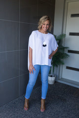 Julia Oversized Top - White