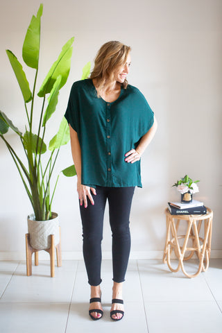 Button Julia Top - Green
