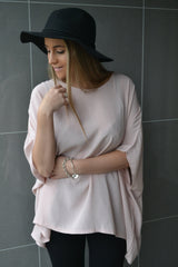 Julia Oversized Top - Blush