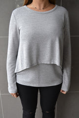 Dixie Layered Top- Grey