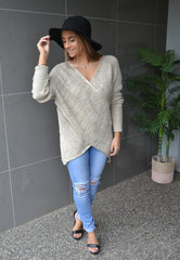 Drape Oatmeal Knit Jumper