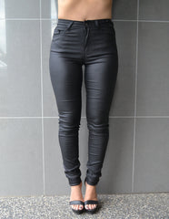 Oil Rigger Stretch Jeans - Black