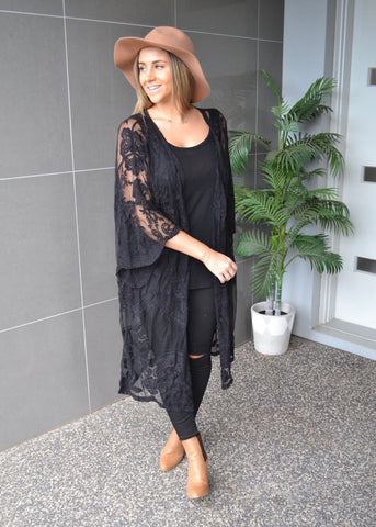 Lace Cape - Black