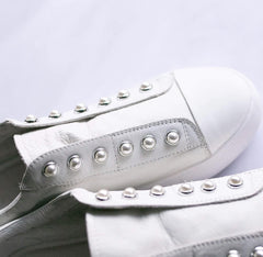 Pearl Shoe - Cream White