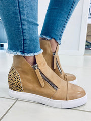 Moselle Shoe - Tan Leopard Pony