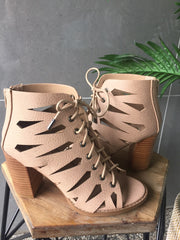 Carlos Heel - Light Taupe