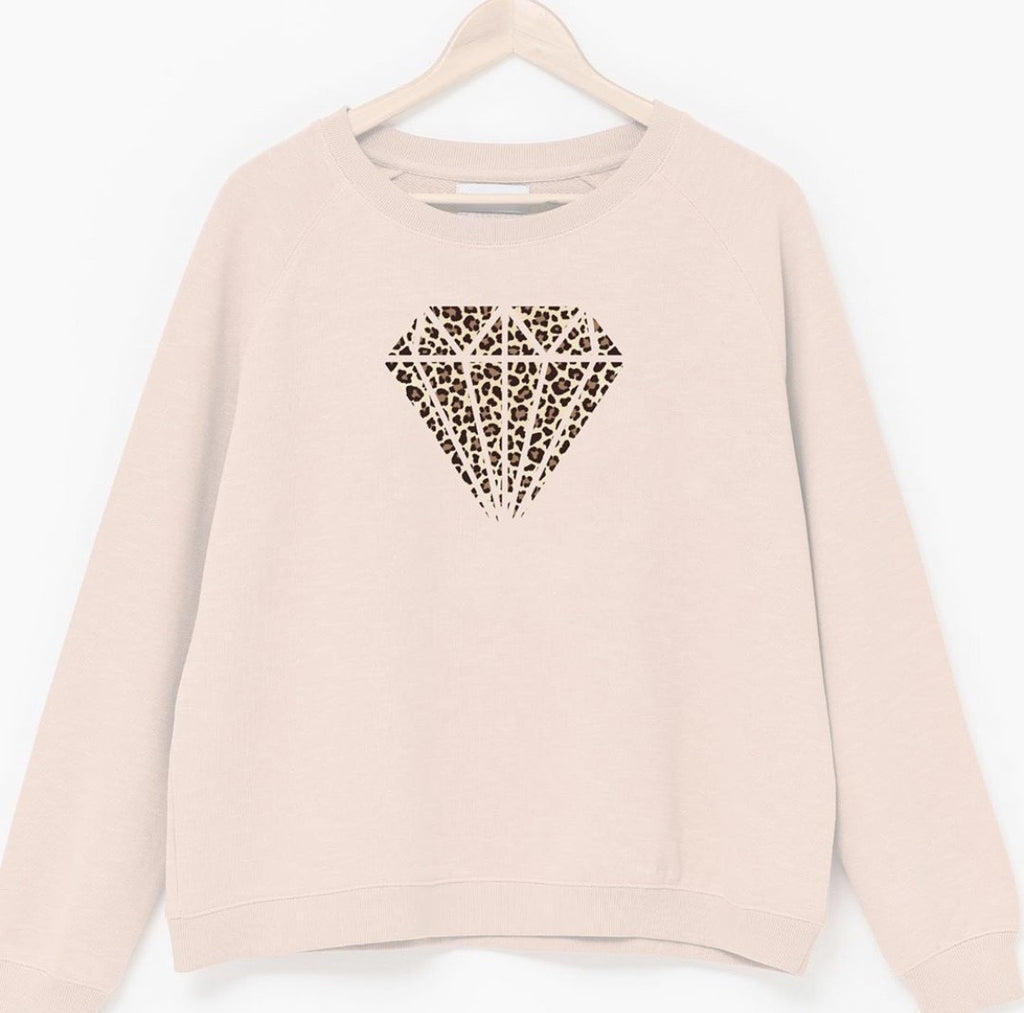 Diamond Jumper- Pale Pink