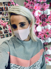 Single Layer Neoprene Face Mask - Baby Pink