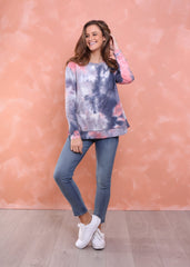 Brooklyn Sweater - Grey/Pink