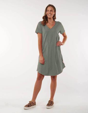 Mary Textured Dress - Khaki