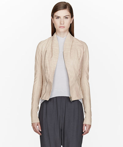 Beige Leather Prince Jacket
