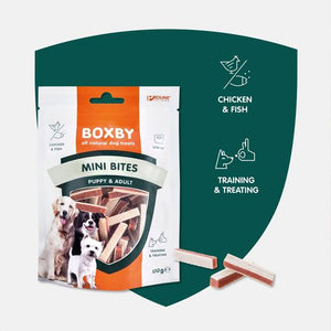 BOXBY MINI BITES Vetarm, gunstig voor de spijsvertering, perfect voor training