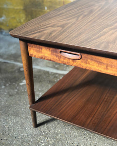 Lane Two-Tier Side Table w/ Drawer