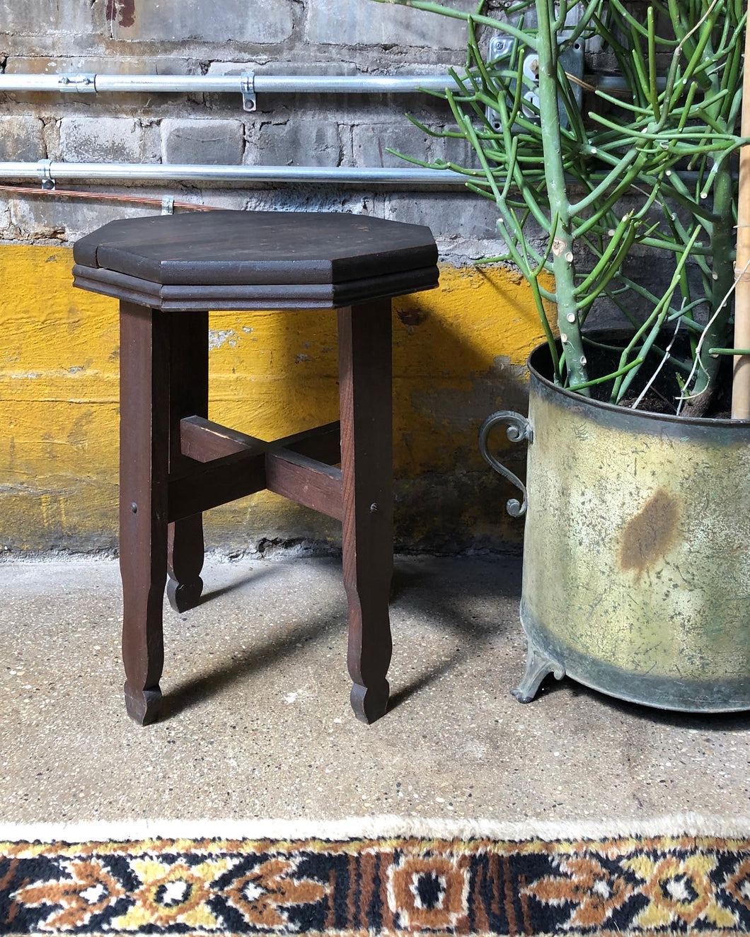 Antique Octagonal Plant Stand / Side Table