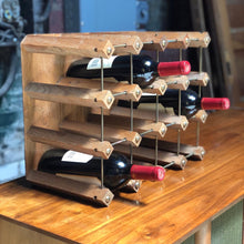 Load image into Gallery viewer, Standing Wine Rack for Twelve (12)